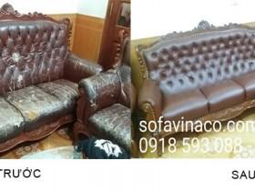 Bọc ghế sofa da tại nhà Hà Nội