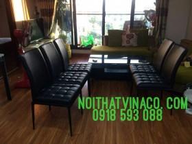 Bọc ghế ăn chị Hồng tại chung cư TSQ – Mỗ Lao – Hà Đông