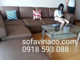Bọc ghế sofa nhà cô Lan ở tòa nhà C6 – Mỹ Đình – Khối 1