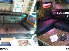 Bọc ghế sofa da nhà chị Hương tại đường Giải Phóng – Hà Nội