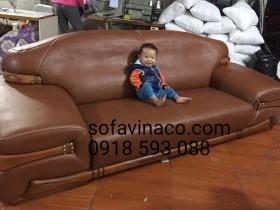 Bọc ghế sofa da tại khu đô thị Pháp Vân – Thanh Trì – Hà Nội