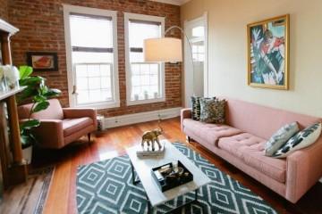 Sofa da màu hồng nên bày trí như thế nào cho đẹp mắt?