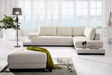 Sofa da màu trắng Lịch lãm, sang trọng và hiện đại