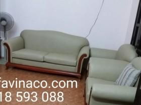 Bọc ghế sofa da nhà bác Hà tại phố Cù Chính Lan, Thanh Xuân