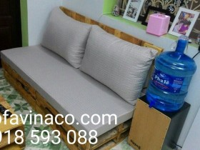 Những mẫu đệm ghế gỗ phòng khách màu ghi mà Vinaco đã làm