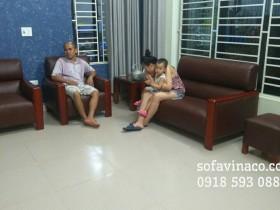 Bọc lại ghế sofa vải thành ghế sofa da tại huyện Sóc Sơn