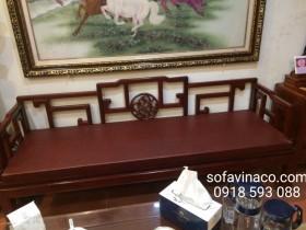 Đệm ghế da cho ghế gỗ giả cổ tại Hoàng Cầu, Đống Đa