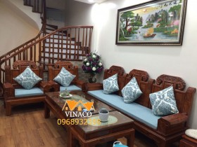 Đệm lót ghế gỗ cho cô Hương sống tại Văn Quán, Hà Đông