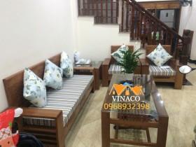 Bộ đệm ghế kẻ sọc cá tính tại Thịnh Liệt, Hoàng Mai
