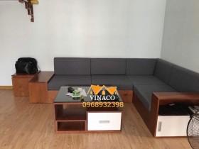 Đệm ghế sofa gỗ L – Tăng sự hấp dẫn cho phòng khách