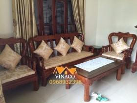 Đệm ghế gỗ vàng óng cho ghế giả cổ tại Thái Hà