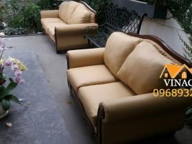 Bọc lại ghế sofa cổ điển tại Gamuda City quận Hoàng Mai, Hà Nội
