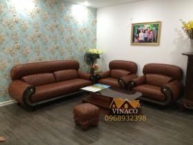 Bọc ghế sofa tại nhà chị Huyền số 61 Vũ Ngọc Phan, Láng Hạ