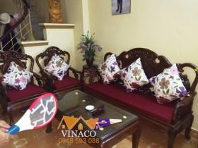 Làm đệm ghế gỗ giả cổ tại quận Nam Từ Liêm Hà Nội
