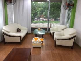 Bọc ghế da trắng cho chị Diệp ở Vũ Tông Phan, Thanh Xuân