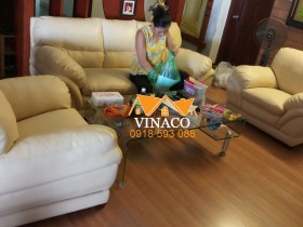 Bọc ghế sofa cho nhà anh Hải ở 24T1 Hoàng Đạo Thúy, Trung Hòa