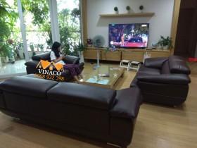 Bọc ghế sofa da cao cấp tại chung cư Rivera Park 137 Xuân Thủy, Cầu Giấy