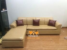 Bọc lại ghế sofa da ở T1 TSQ Euroland Mỗ Lao, Hà Đông