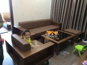 Đệm ghế da cho anh Nam ở chung cư An Bình Phạm Văn Đồng