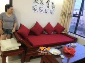 Đệm ghế quý phi cho anh Mạnh tại chung cư Green Star Phạm Văn Đồng
