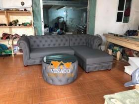 Đóng ghế sofa tân cổ điển dạng L tại Trung Hòa, Cầu Giấy