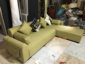 Mẫu ghế sofa xanh ô liu đang hot nhất trong năm