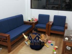 Làm đệm ghế gỗ cho anh Khoát tại Kim Văn Kim Lũ