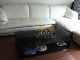 Thay vỏ da thật bằng giả da cho bộ ghế sofa ở Mai Dịch
