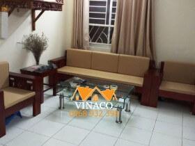 Đệm ghế bông ép 5cm cho chị Hiền ở Khu đô thị Nam Thăng Long
