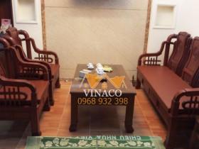 Bộ đệm trùng màu với ghế gỗ – làm đệm ghế cả nước Vinaco