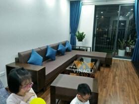 Đệm ghế da cho chị Hằng ở chung cư An Bình Phạm Văn Đồng