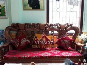 Bộ đệm ghế gửi cho chị Hà ở Điện Biên