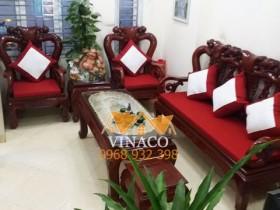 Làm đệm ghế tại Nam Định và bộ đệm giả cổ của chị Quỳnh