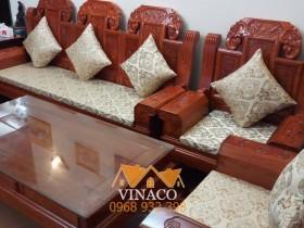 Đệm ghế gấm sang trọng cho ghế gỗ giả cổ