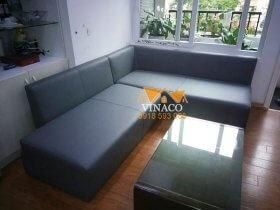Bọc lại ghế sofa da tại chung cư Huyndai Hillstase Hà Đông