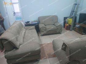 Làm mới bộ sofa da cũ rách của chị Thanh tại 29 Xã Đàn| Bọc ghế sofa