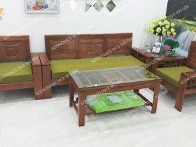 Dùng màu xanh rêu làm đệm ghế cho chị Hải ở Nguyễn Chí Thanh