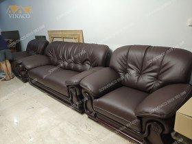 Công trình bọc ghế sofa da cho anh Chiến ở Ciputra Tây Hồ