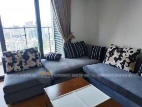 Bọc ghế vải nhung cho bộ ghế sofa góc tại Xuân Thủy Cầu Giấy