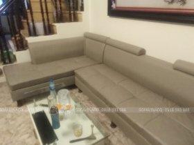 Bọc lại ghế sofa da siêu bẩn tại Xuân Thủy