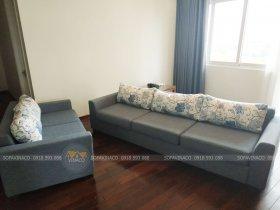 Bọc ghế sofa băng dài ố vàng tại khu đô thị Ciputra Tây Hồ
