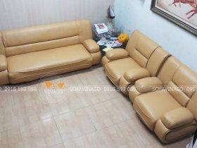 Cải tạo bộ ghế sofa rách bẩn bạc màu tại Ba Đình bằng bọc ghế sofa