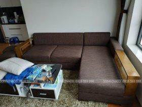 Bọc ghế sofa vải bị bẩn tại chung cư Green Star Phạm Văn Đồng