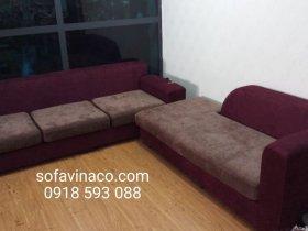 Bọc lại ghế sofa vải nhung tại khu đô thị Việt Hưng, Long Biên