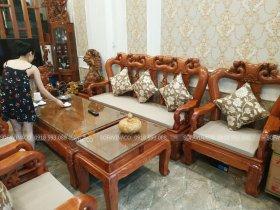 Đệm ghế gỗ đồng kỵ tại Hà Trung, Hoàn Kiếm, Hà Nội