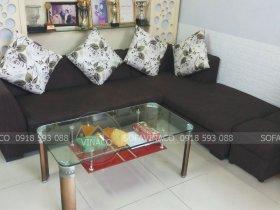 Bọc lại ghế sofa vải cho chị Loan ở Nguyễn Chí Thanh, Đống Đa