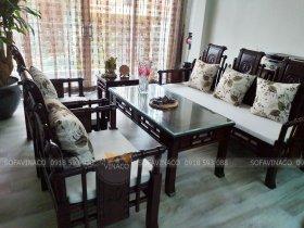 Đệm ghế gỗ + đệm ghế ăn cho chị Thúy Anh ở ngõ 43 Kim Đồng, Hoàng Mai