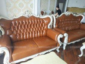 Bọc lại ghế sofa tân cổ điển và bộ ghế ăn sang chảnh tại Royal City