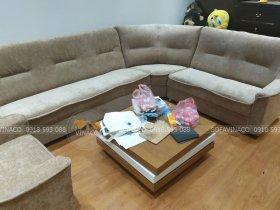 Công trình bọc ghế sofa nhung tại ngõ 198 Trần Cung, Hà Nội