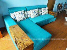 Bọc lại ghế sofa bẩn ở chung cư Mễ Trì VOV Plaza, Nam Từ Liêm